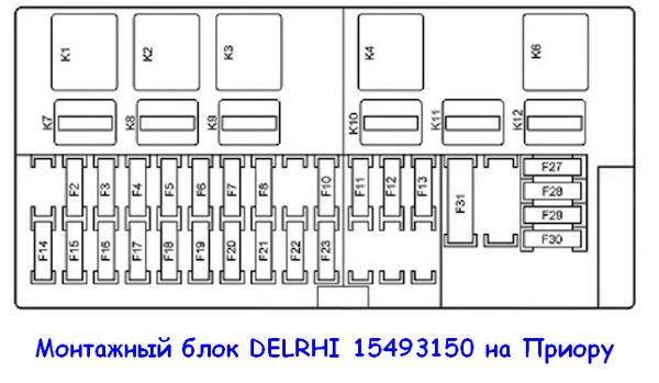 Монтажный блок Delrhi Приора