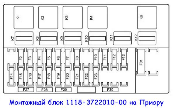 Монтажный блок Приора 1118-3722010-00