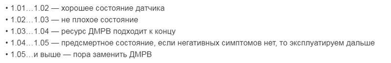 Обозначения ДМРВ2