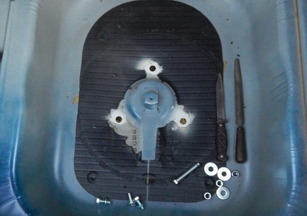 Отверстия для крепления фаркопа ВАЗ2170