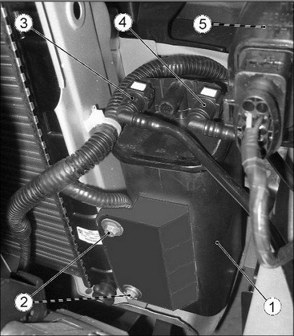 Снятие адсорбера Приора по инструкции